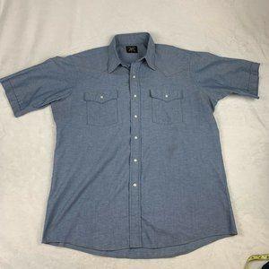 VTG Saddle King Men's Western Shirt Short Sleeve